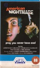 American Nightmare - British VHS movie cover (xs thumbnail)