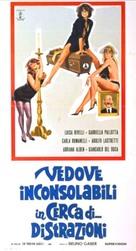 Vedove inconsolabili in cerca di... distrazioni - Italian Movie Poster (xs thumbnail)