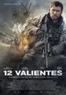 12 Strong - Spanish Movie Poster (xs thumbnail)