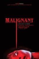 Malignant - Danish Movie Poster (xs thumbnail)