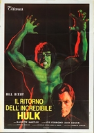 The Incredible Hulk Returns - Italian Movie Poster (xs thumbnail)