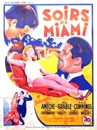Moon Over Miami - French Movie Poster (xs thumbnail)