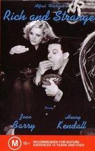 Rich and Strange - Australian VHS movie cover (xs thumbnail)