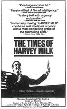 The Times of Harvey Milk - Movie Poster (xs thumbnail)