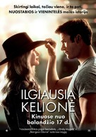 The Longest Ride - Lithuanian Movie Poster (xs thumbnail)
