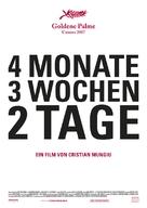 4 luni, 3 saptamini si 2 zile - German Movie Poster (xs thumbnail)