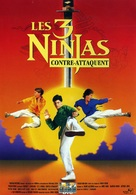 3 Ninjas Kick Back - French DVD movie cover (xs thumbnail)