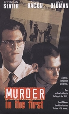Murder in the First - German VHS cover (xs thumbnail)