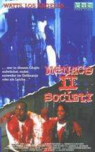 Menace II Society - German VHS cover (xs thumbnail)