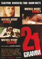 21 Grams - German Movie Poster (xs thumbnail)