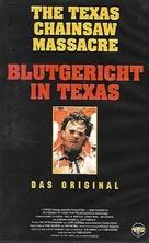 The Texas Chain Saw Massacre - German VHS movie cover (xs thumbnail)