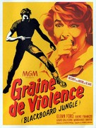 Blackboard Jungle - French Movie Poster (xs thumbnail)