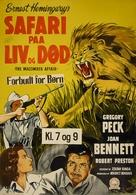 The Macomber Affair - Danish Movie Poster (xs thumbnail)