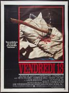 Friday the 13th - French Movie Poster (xs thumbnail)
