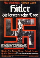 Hitler: The Last Ten Days - German Movie Poster (xs thumbnail)