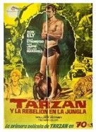 Tarzan's Jungle Rebellion - Spanish Movie Poster (xs thumbnail)