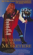The Return of the Musketeers - German VHS movie cover (xs thumbnail)