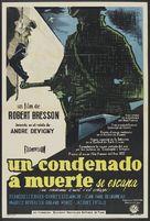 Un condamné à mort s'est échappé ou Le vent souffle où il veut - Argentinian Movie Poster (xs thumbnail)