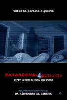 Paranormal Activity 4 - Italian Theatrical movie poster (xs thumbnail)