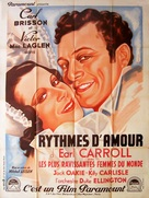 Murder at the Vanities - French Movie Poster (xs thumbnail)