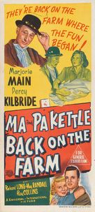 Ma and Pa Kettle Back on the Farm - Australian Movie Poster (xs thumbnail)