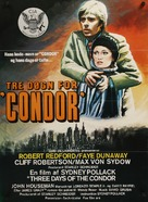 Three Days of the Condor - Danish Movie Poster (xs thumbnail)