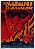 Das Testament des Dr. Mabuse - Danish Movie Poster (xs thumbnail)