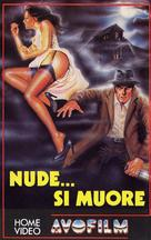 Nude... si muore - Italian VHS cover (xs thumbnail)