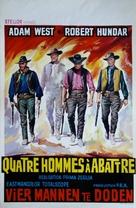 I quattro inesorabili - Belgian Movie Poster (xs thumbnail)
