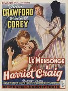 Harriet Craig - Belgian Movie Poster (xs thumbnail)