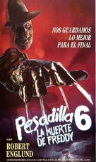 Freddy's Dead: The Final Nightmare - Argentinian VHS movie cover (xs thumbnail)