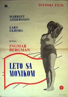 Sommaren med Monika - Yugoslav Movie Poster (xs thumbnail)