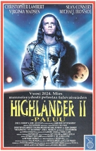 Highlander 2 - Finnish VHS movie cover (xs thumbnail)