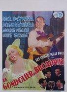 Broadway Gondolier - Belgian Movie Poster (xs thumbnail)