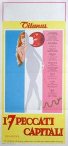 Les sept péchés capitaux - Italian Movie Poster (xs thumbnail)