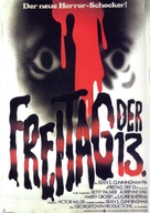 Friday the 13th - German Movie Poster (xs thumbnail)