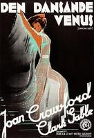 Dancing Lady - Swedish Movie Poster (xs thumbnail)