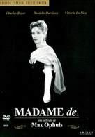 Madame de... - Spanish DVD cover (xs thumbnail)