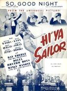 Hi'ya, Sailor - poster (xs thumbnail)