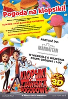 Cloudy with a Chance of Meatballs - Polish Movie Poster (xs thumbnail)