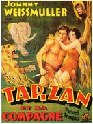 Tarzan and His Mate - French Movie Poster (xs thumbnail)