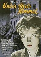Sous le ciel de Paris - Danish Movie Poster (xs thumbnail)