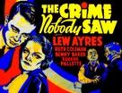 The Crime Nobody Saw - Movie Poster (xs thumbnail)