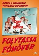 Carry on Matron - Hungarian DVD cover (xs thumbnail)