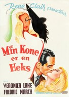 I Married a Witch - Danish Movie Poster (xs thumbnail)