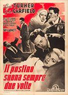 The Postman Always Rings Twice - Italian Movie Poster (xs thumbnail)