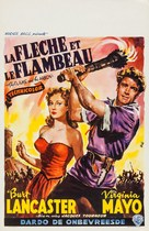 The Flame and the Arrow - Belgian Movie Poster (xs thumbnail)