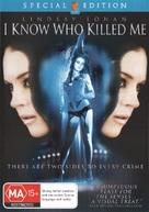 I Know Who Killed Me - Australian DVD cover (xs thumbnail)