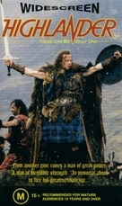 Highlander - Australian VHS movie cover (xs thumbnail)