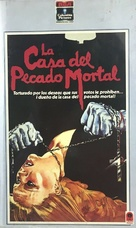 House of Mortal Sin - Spanish VHS movie cover (xs thumbnail)